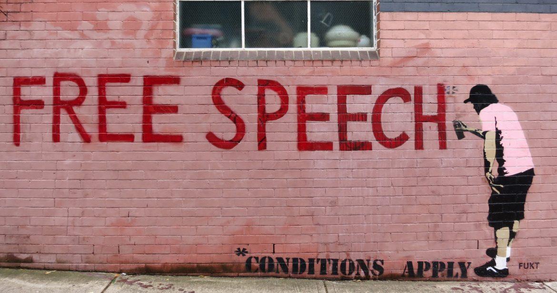 Free Speech grafitti